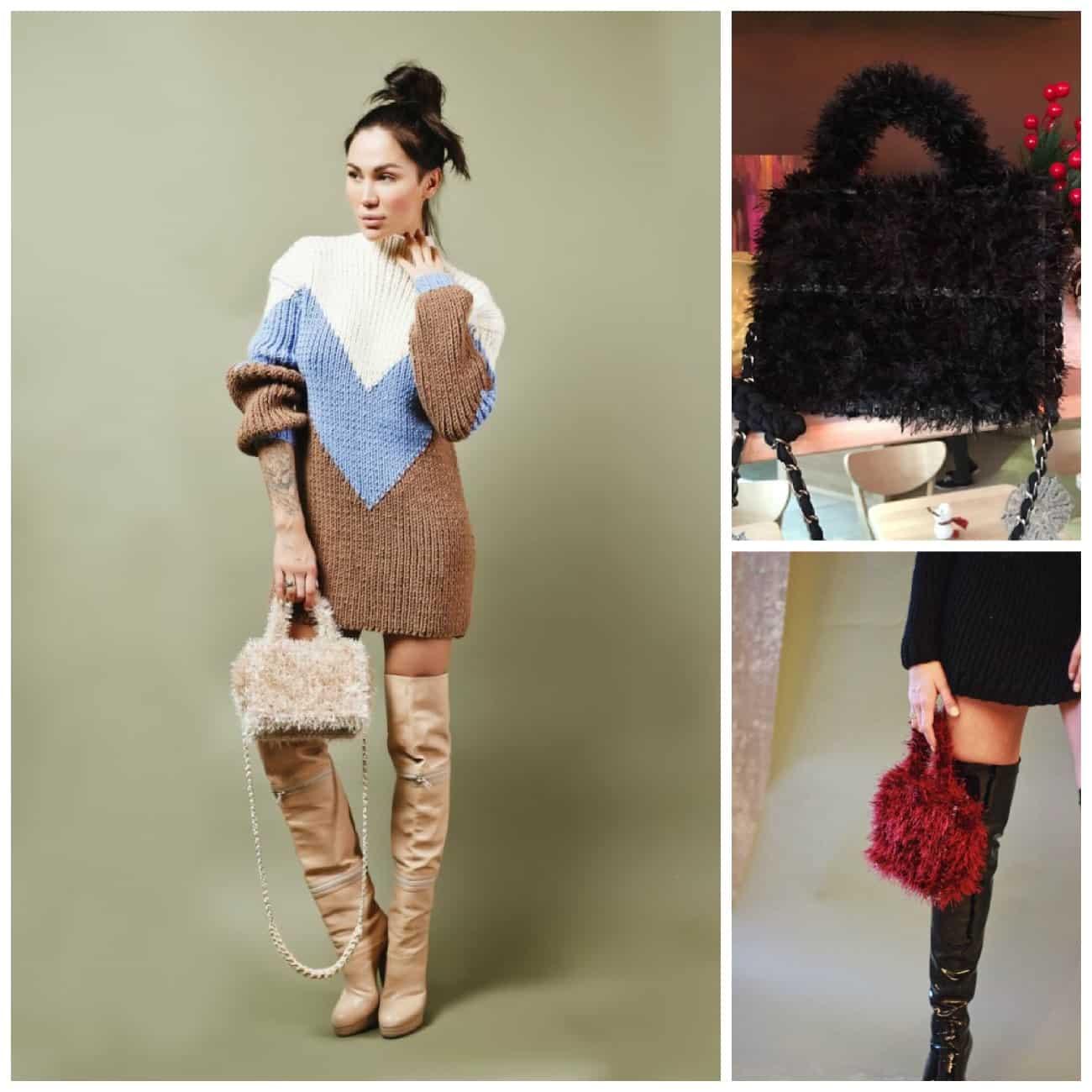 материал вязаной сумки