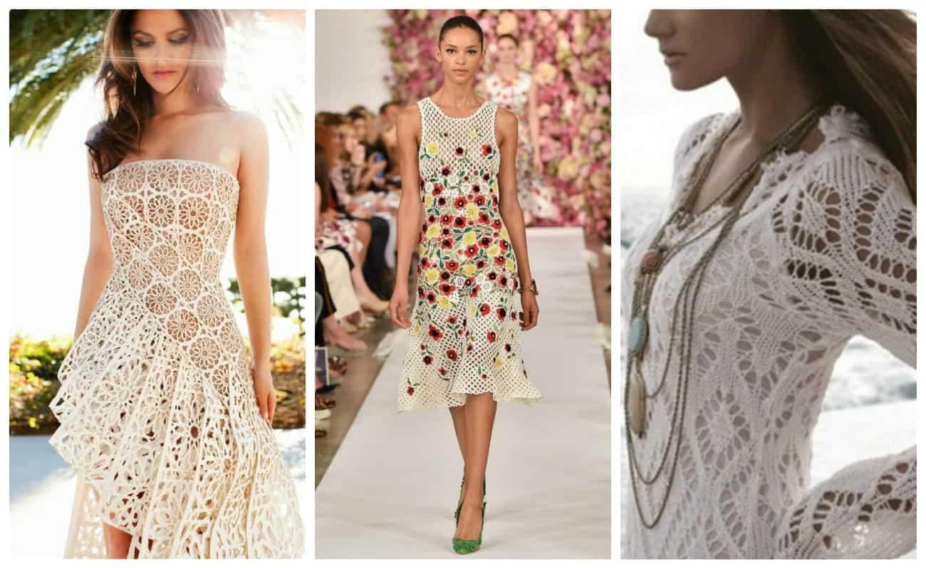 вязаное платье на лето