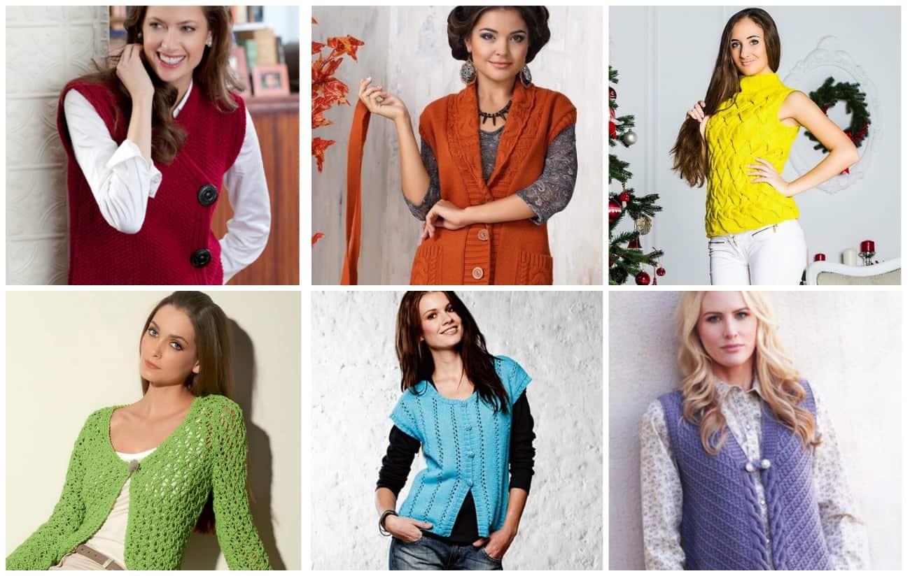 модный цвет вязаного жилета