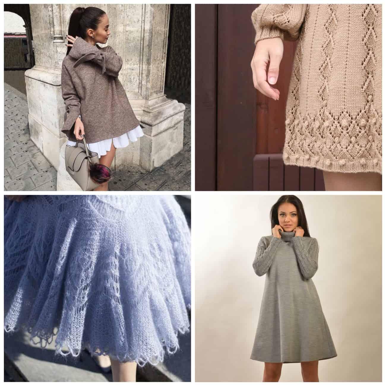 пышные вязаные платья фото