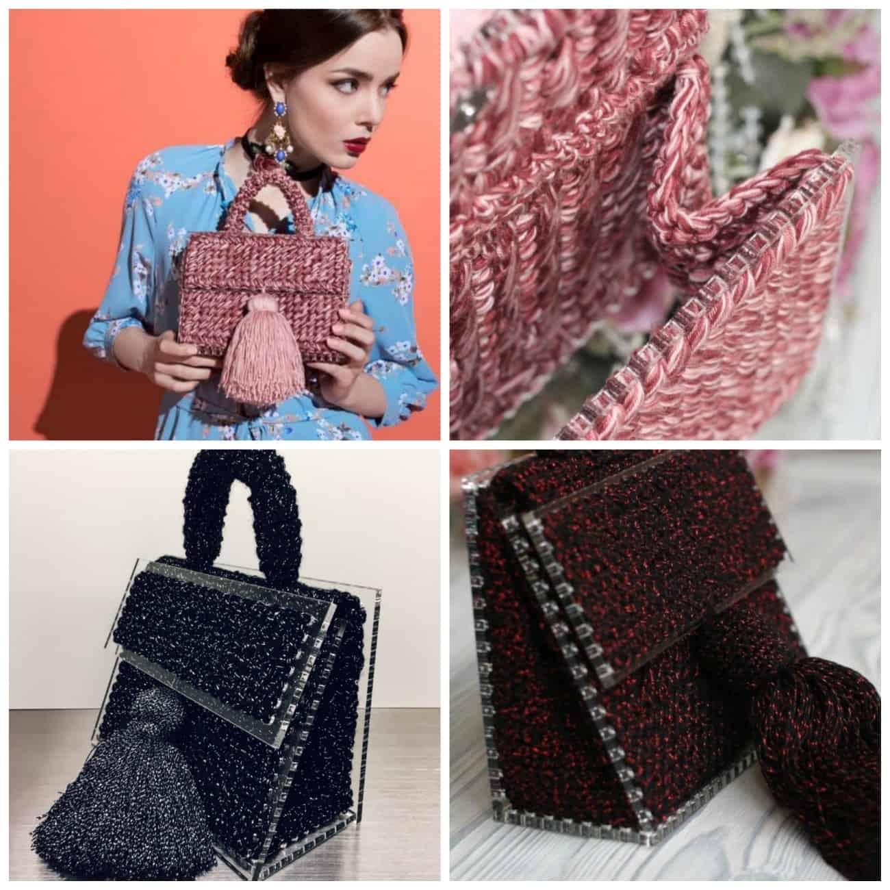 стильные вязаные сумки в интернет магазине