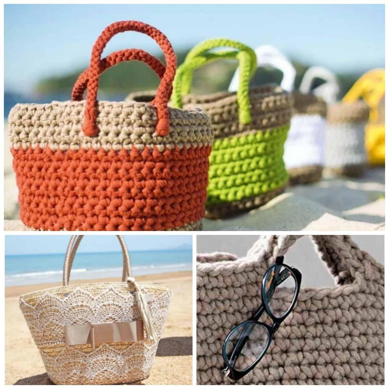 пляжные вязаные сумки 2018