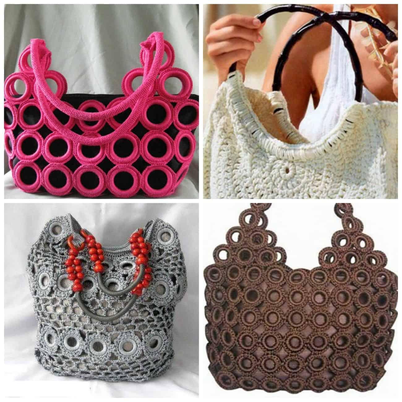 вязаные сумки модные аксессуары 2018
