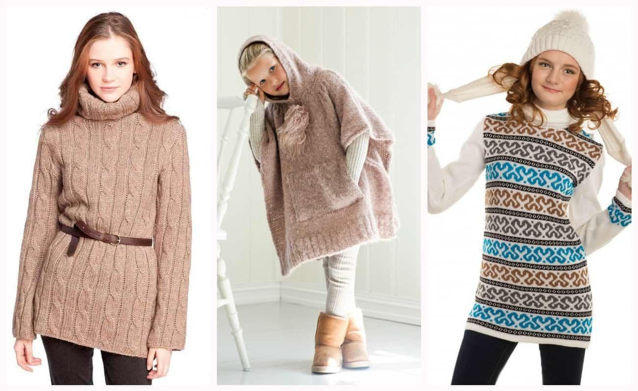 купить вязаную одежду для девочек