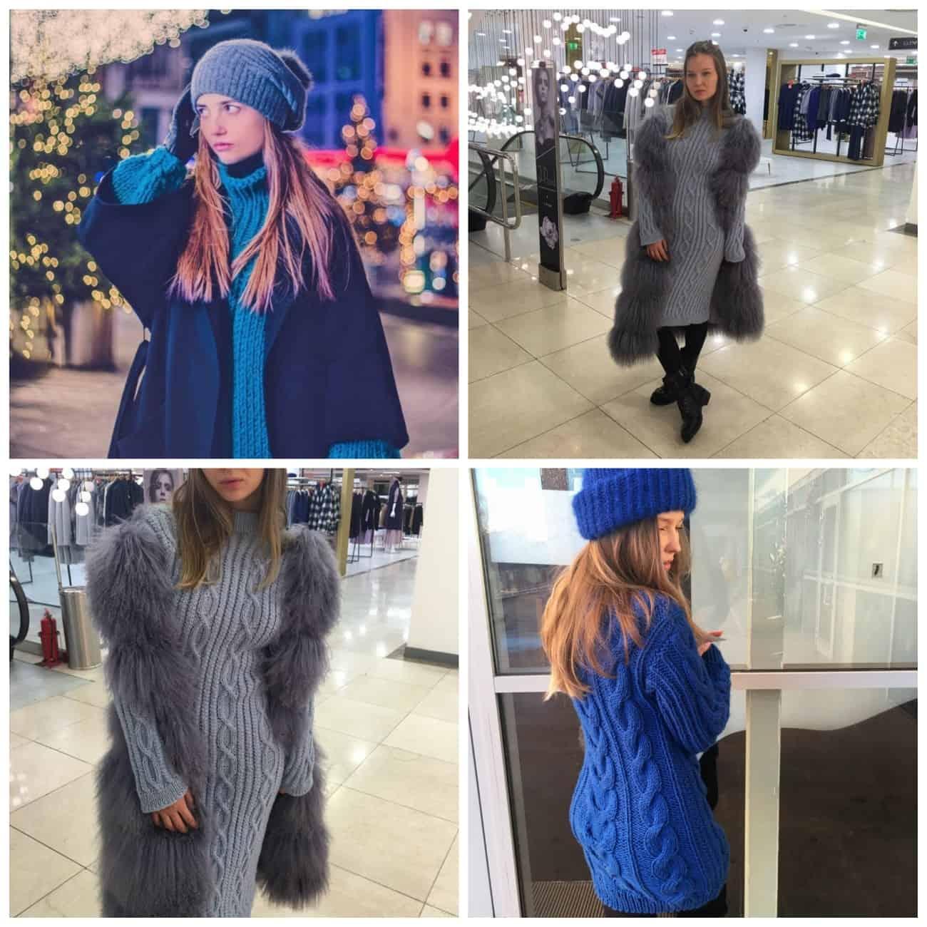 вязаные платья для зимы