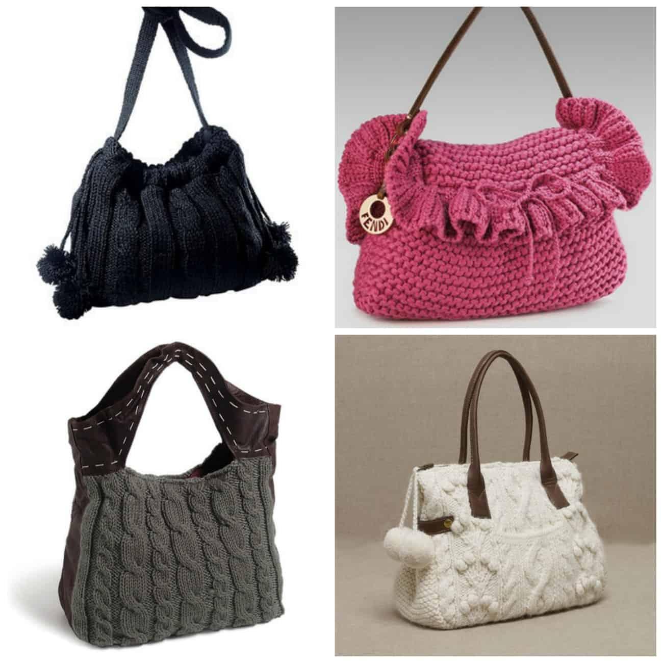 купить зимние вязаные сумки