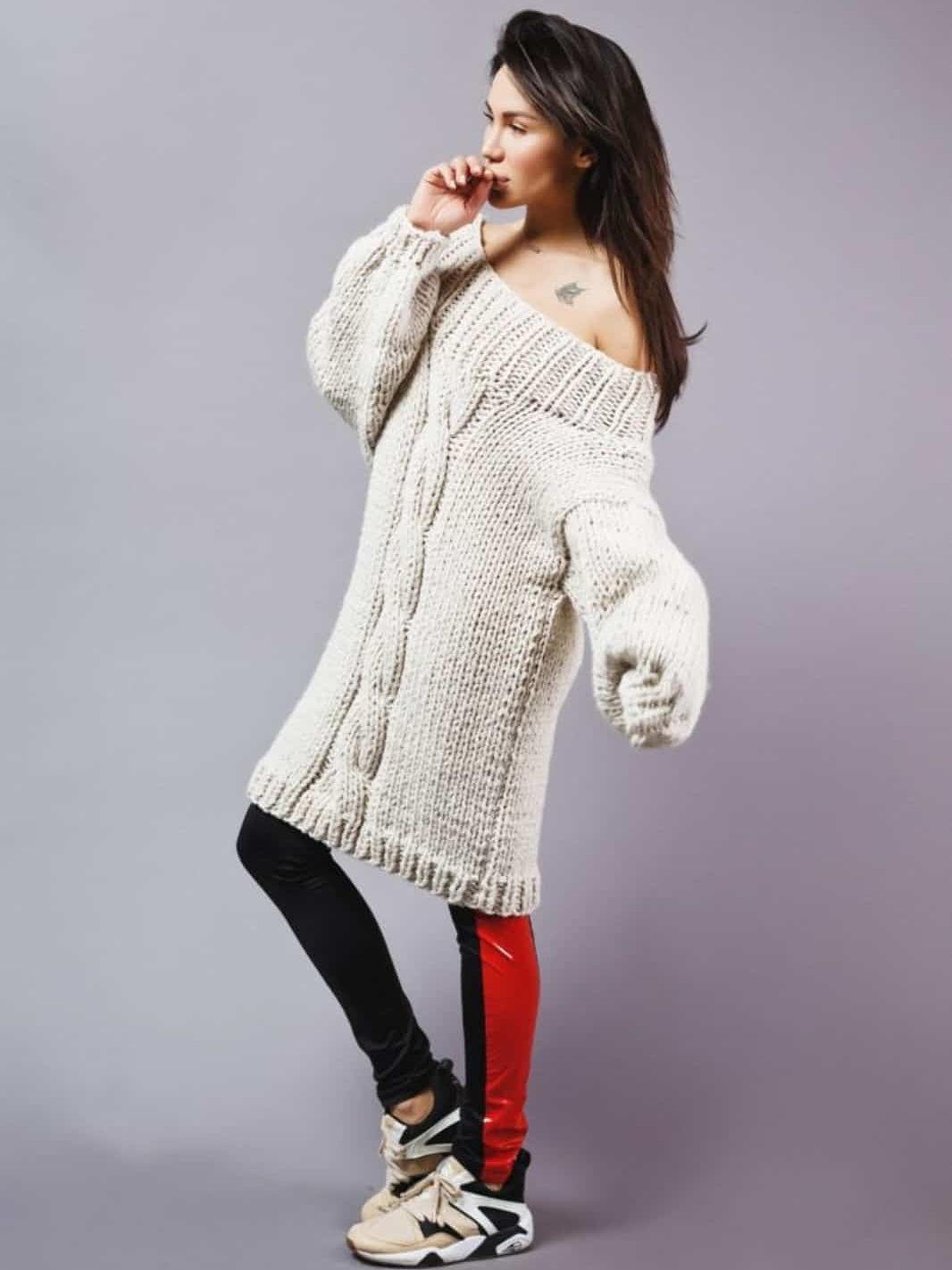 9f78db2ba3d Длинный свитер - купить в интернет-магазине вязаной одежды ...