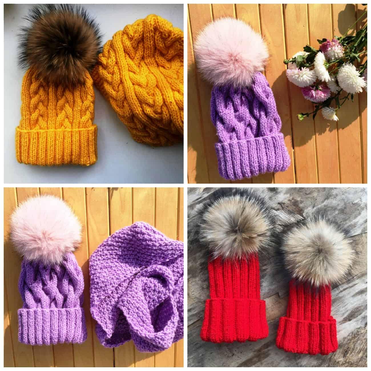 Модные вязаные шапки 2018