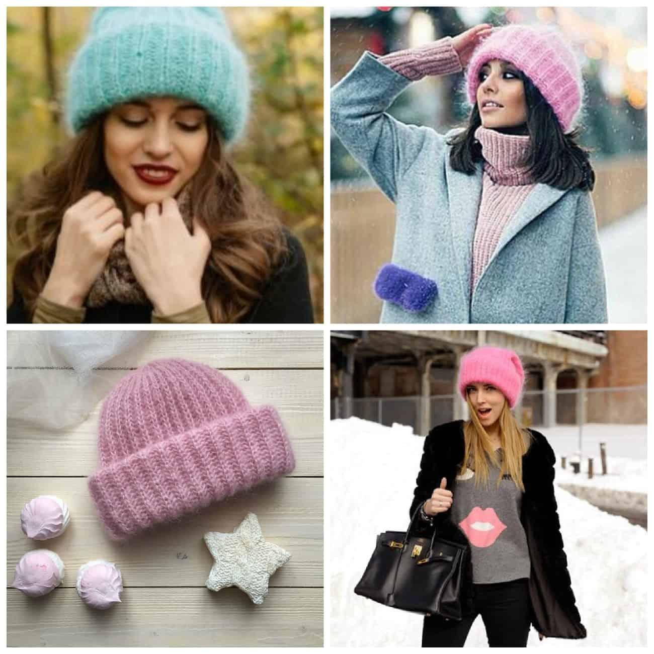 Пушистые шапки для зимы