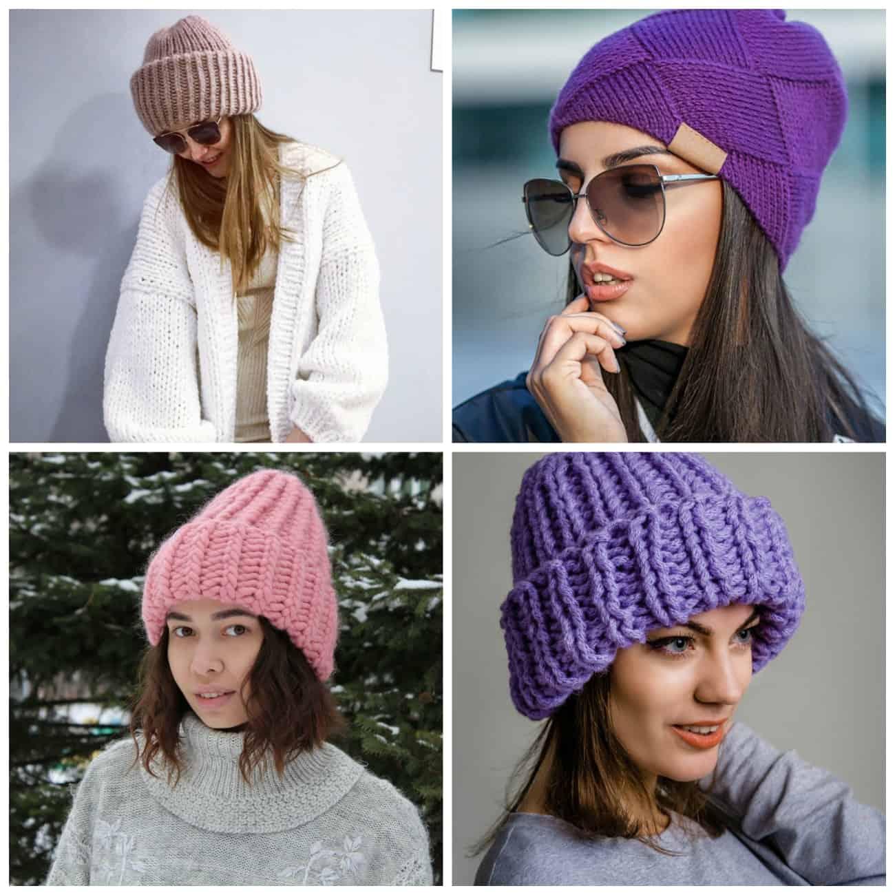 купить вязаную шапку классику