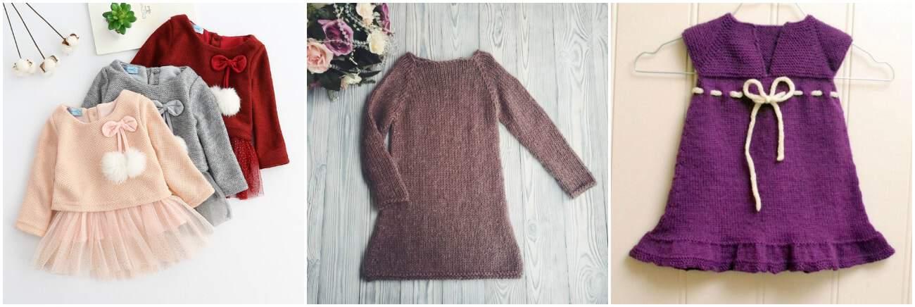 купить вязаное платье для девочки с доставкой