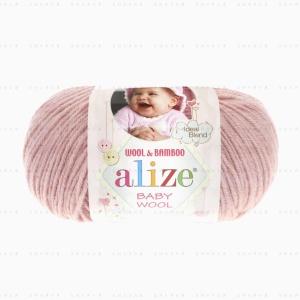 На фотографии изображена пряжа Alize Baby Wool - Ализе Беби Вул в интернет-магазине ShaparBrand.ru