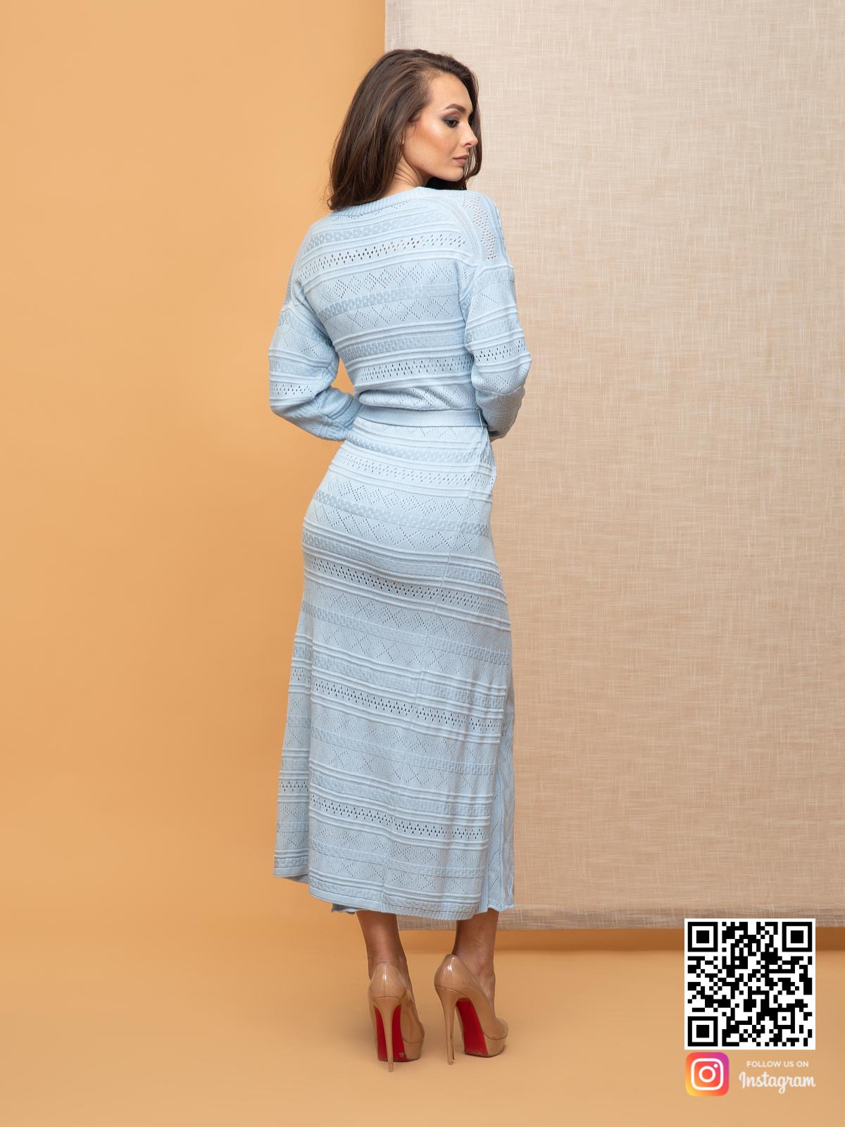 На шестой фотографии женский летний кардиган с узором от Shapar, бренда вязаной одежды ручной работы в интернет-магазине связанных спицами вещей.